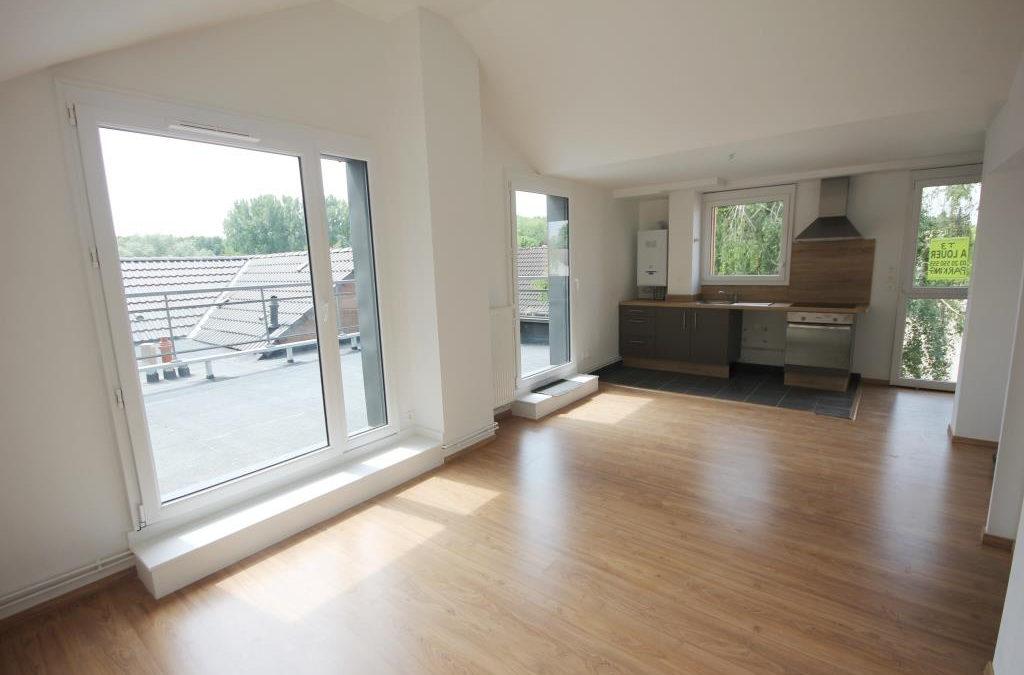 T3 de 58 m² avec terrasse, Parc du héron – Villeneuve d'Ascq